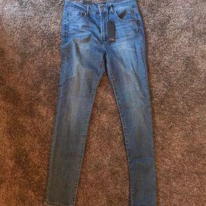 Medium Wash High Waist Skinny Jeans